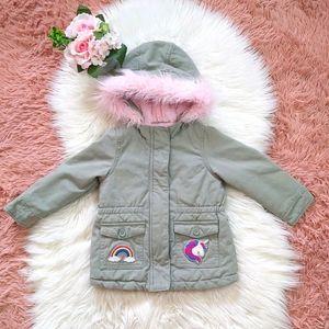 NWOT Children's Place Spring Fall Unicorn Jacket